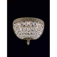Schonbek Rialto 3 Light Wall Sconce in Parchment Bronze and Legacy Crystal 5055-74L