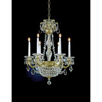 Schonbek La Scala Empire 8 Light Chandelier in Heirloom Gold and Clear Heritage Handcut Trim 5076-22