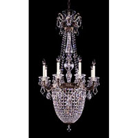 Schonbek La Scala Empire 11 Light Chandelier in Parchment Bronze and Clear Heritage Handcut Trim 5090-74