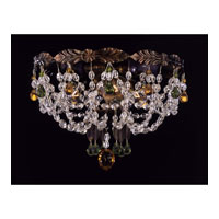 Schonbek Adagio 3 Light Flush Mount in Heirloom Bronze with Olivine Vintage Crystal Colors 5098-76OL photo thumbnail