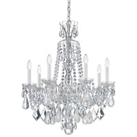Schonbek Hamilton Rock Crystal 7 Light Chandelier in Silver and Clear Rock Crystal Trim 5536CL
