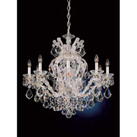 Schonbek Maria Theresa 10 Light Chandelier in Heirloom Silver 5626-44
