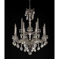 Milano 12 Light 31 inch Roman Silver Chandelier Ceiling Light in Clear Swarovski