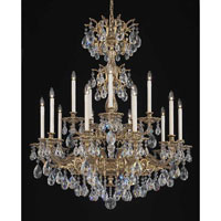 Schonbek Milano 15 Light Chandelier in Florentine Bronze and Crystal Swarovski Elements Trim 5686-83S