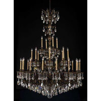 Milano 28 Light 50 inch Midnight Gild Chandelier Ceiling Light in Clear Swarovski