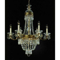 Schonbek Romanoff 8 Light Chandelier in Heirloom Gold and Clear Heritage Handcut (H) Trim 5714-22