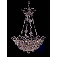 Schonbek Trilliane 8 Light Pendant in Silver and Clear Spectra Crystal Trim 5798A