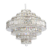 Schonbek Plaza 31 Light Pendant in Stainless Steel and Crystal Swarovski Elements Trim 6677S