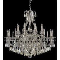 Sophia 24 Light 50 inch Roman Silver Chandelier Ceiling Light in Clear Swarovski