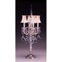 Schonbek La Scala 4 Light Table Lamp in Antique Silver and Clear Heritage Handcut Trim 70064N-48