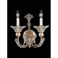 Schonbek Rivendell 2 Light Wall Sconce in Tourmaline and Strass Crystal 7856-82S