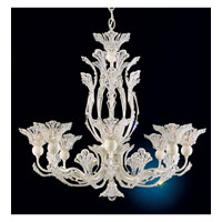 Schonbek Rivendell 8 Light Chandelier in French Lace and Crystal Swarovski Elements Trim 7863-32S