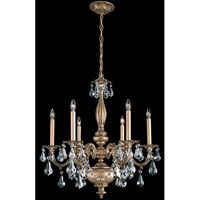 Schonbek Alea 6 Light Pendant in Florentine Bronze and Crystal Swarovski Elements Trim AL6516N-83S