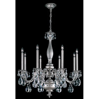 Schonbek Alea 8 Light Pendant in Roman Silver and Clear Specta Crystal Trim AL6518N-80A