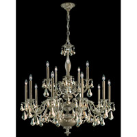 Schonbek Alea 15 Light Pendant in Parchment Bronze and Golden Shadow Swarovski Elements Trim AL6525N-74GS