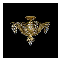 Schonbek Amytis 3 Light Semi Flush Mount in Heirloom Gold and Ray Swarovski Elements Trim AM5206N-22RAY