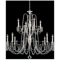 Schonbek AR1012N-48S Esmery 12 Light 37 inch Antique Silver Chandelier Ceiling Light in Swarovski