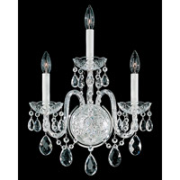 Schonbek Arlington 3 Light Wall Sconce in Silver and Clear Heritage Handcut Trim 1300-40H