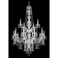 Schonbek Arlington 15 Light Chandelier in Silver and Clear Heritage Handcut Trim 1308-40H