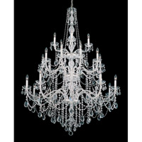 Schonbek Arlington 25 Light Chandelier in Silver and Clear Heritage Handcut Trim 1310-40H