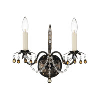 Schonbek Adagio 2 Light Wall Sconce in Heirloom Bronze with Smoke Vintage Crystal Colors 5102-76SM photo thumbnail