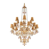 Schonbek Adagio 24 Light Chandelier in French Gold with Topaz Vintage Crystal Colors 5112-26TO photo thumbnail
