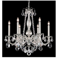 Schonbek AL6506N-22A Alea 6 Light 24 inch Heirloom Gold Chandelier Ceiling Light in Clear Spectra