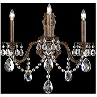 Schonbek AL6513N-22A Alea 3 Light 10 inch Heirloom Gold Wall Sconce Wall Light in Clear Spectra