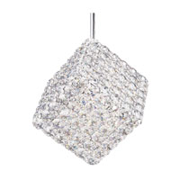 Schonbek Aleax 1 Light Pendant in Stainless Steel and Crystal Swarovski Elements Trim AX0808S