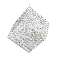 Schonbek Aleax 2 Light Pendant in Stainless Steel and Crystal Swarovski Elements Trim AX1111S
