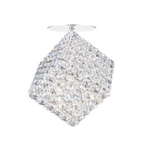 Schonbek Aleax 1 Light Flush Mount in Stainless Steel and Crystal Swarovski Elements Trim AXC0808S