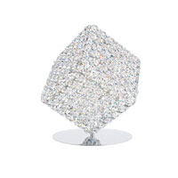 Schonbek Aleax 1 Light Table Lamp in Stainless Steel and Clear Spectra Crystal Trim AXT0808A