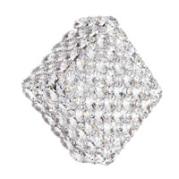Schonbek Aleax 4 Light Convertible Semi Flush or Wall Sconce in Stainless Steel and Crystal Swarovski Elements Trim AXW0808S