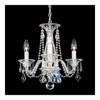 Schonbek Allegro 3 Light Chandelier in Silver and Clear Heritage Handcut Trim 6993CL