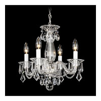 Schonbek 6994CL Allegro 4 Light 14 inch Silver Chandelier Ceiling Light