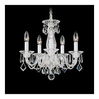 Schonbek Allegro 5 Light Chandelier in Silver and Clear Heritage Handcut Trim 6995CL