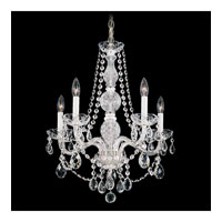 Schonbek Arlington 5 Light Chandelier in Silver and Clear Heritage Handcut Trim 1302-40H