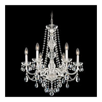 Schonbek Arlington 6 Light Chandelier in Silver and Clear Heritage Handcut Trim 1303-40H