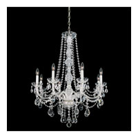 Schonbek Arlington 8 Light Chandelier in Silver and Clear Heritage Handcut Trim 1305-40H