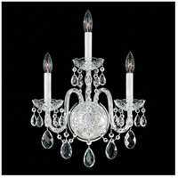 Schonbek 1300-40H Arlington 3 Light 7 inch Silver Wall Sconce Wall Light in Polished Silver, Clear Heritage