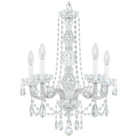 Schonbek 1302-40H Arlington 5 Light 21 inch Silver Chandelier Ceiling Light in Polished Silver, Clear Heritage