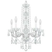 Schonbek 1302-40H Arlington 5 Light 21 inch Silver Chandelier Ceiling Light
