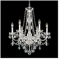 Arlington 6 Light 24 inch Silver Chandelier Ceiling Light