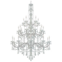Arlington 25 Light 45 inch Silver Chandelier Ceiling Light in Polished Silver, Clear Heritage