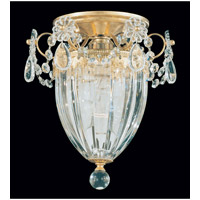 Schonbek Bagatelle 1 Light Semi Flush Mount in Heirloom Gold and Clear Heritage Handcut Trim 1239-22