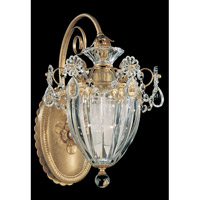 Schonbek Bagatelle 1 Light Wall Sconce in Heirloom Gold and Clear Heritage Handcut Trim 1240-22
