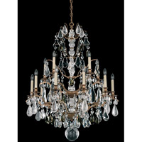 Schonbek Beaujolais 15 Light Chandelier in Florentine Bronze with Black Diamond Rock Crystal 5593-83BD photo thumbnail