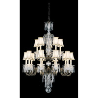 Schonbek Birmingham 15 Light Chandelier in Midnight Gild and Clear Heritage Handcut Trim 3679-86 photo thumbnail