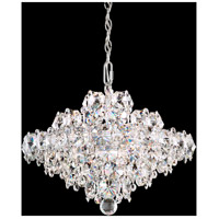 Schonbek BN1016N-401A Baronet 8 Light Polished Stainless Steel Pendant Ceiling Light in Clear Spectra