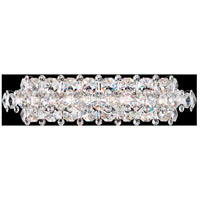 Schonbek BN1224N-401A Baronet 5 Light Polished Stainless Steel Wall Sconce Wall Light in Clear Spectra